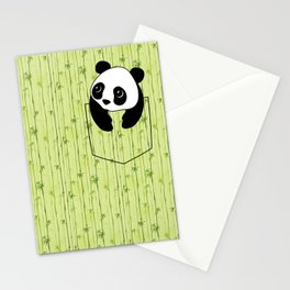 Pocket Bamboo Panda Stationery Cards