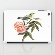 Watercolor illustration with bird and flower iPad Case