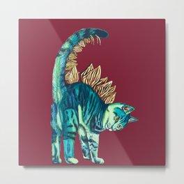 Stegosaurus Kitten Metal Print