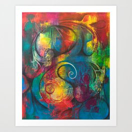 Expression of Silence Art Print