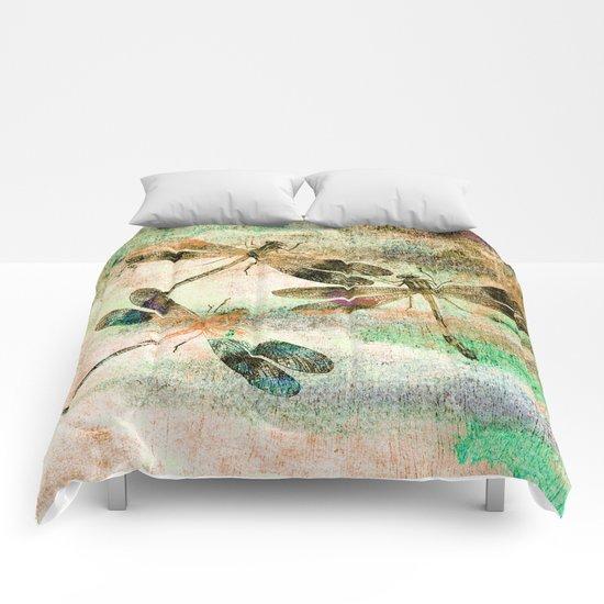 Mauritius Vintage Dragonflies QR Comforters