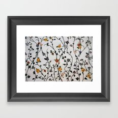 Flowers - Stems - Bossoms - Branches - Pattern Framed Art Print