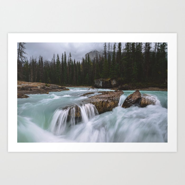 Flowing water in Canada Art Print