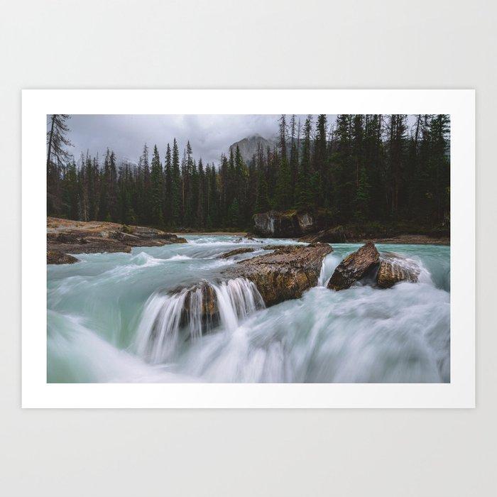 Flowing water in Canada Art Print