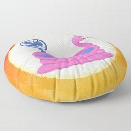 Flamingo Heat Wave Floor Pillow