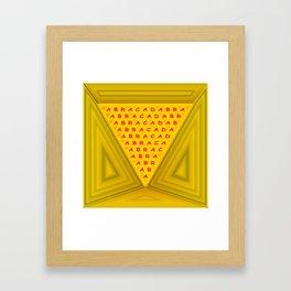 The magic word Framed Art Print