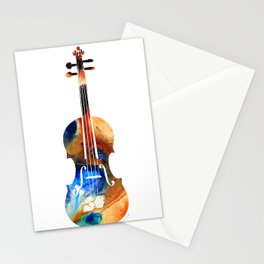 Violin Art By Sharon Cummings Stationery Cards