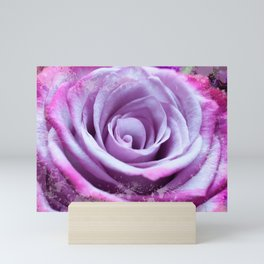 Rose of Love #Pink #Purple #art #society6 Mini Art Print