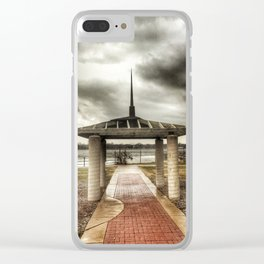 Architectural Park - Davenport, Iowa - Winter 2017 Clear iPhone Case