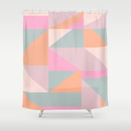 Sweet Candy Pastel Shapes Shower Curtain