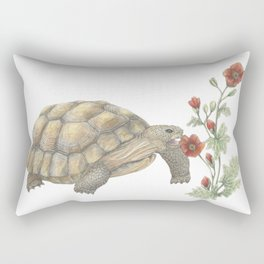 Desert Tortoise & Mallow Rectangular Pillow