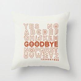 Plastic Bag Ouija Board Throw Pillow