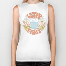 Water Yourself First Biker Tank