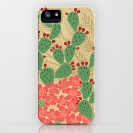 Locust Cider Cactus on Sand iPhone Case