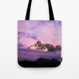 Pink Sunset Summit Tote Bag