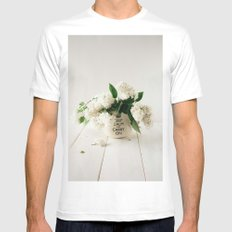 Still life with white lilacs Mens Fitted Tee MEDIUM White