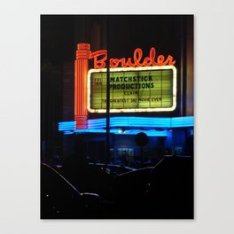 At the Drive In Canvas Print