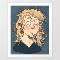luna lovegood Art Prints featuring Luna Lovegood by Naïs Quin