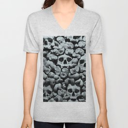 Wall of Remains B'n'W Unisex V-Neck
