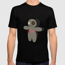 Voodoo doll. Cartoon horror elements. Spooky fear trick or treat T-shirt