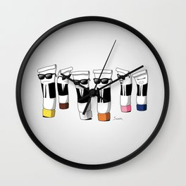 Reservoir Colours (no blood and dark colored t-shirts) Wall Clock