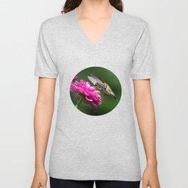 Hummingbirds Flower Unisex V-Neck