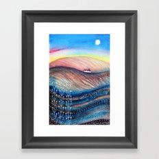 Dusky Hills Framed Art Print