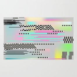 Glitch art effect Rug