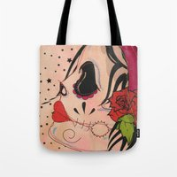 gypsy Tote Bags featuring Gypsy by Dioni Pinilla