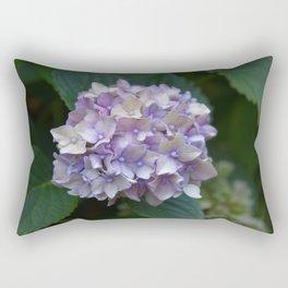 Whitish-Purplish-Bluish Hydrangea Rectangular Pillow