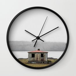 Lonely House in Iceland Wall Clock