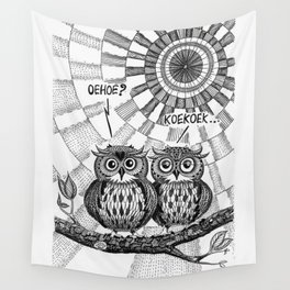 OWL TALK Wall Tapestry