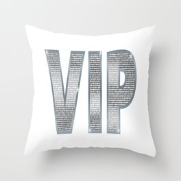 VIP Silver Throw Pillow