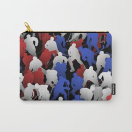 Red blue white hockey players Carry-All Pouch