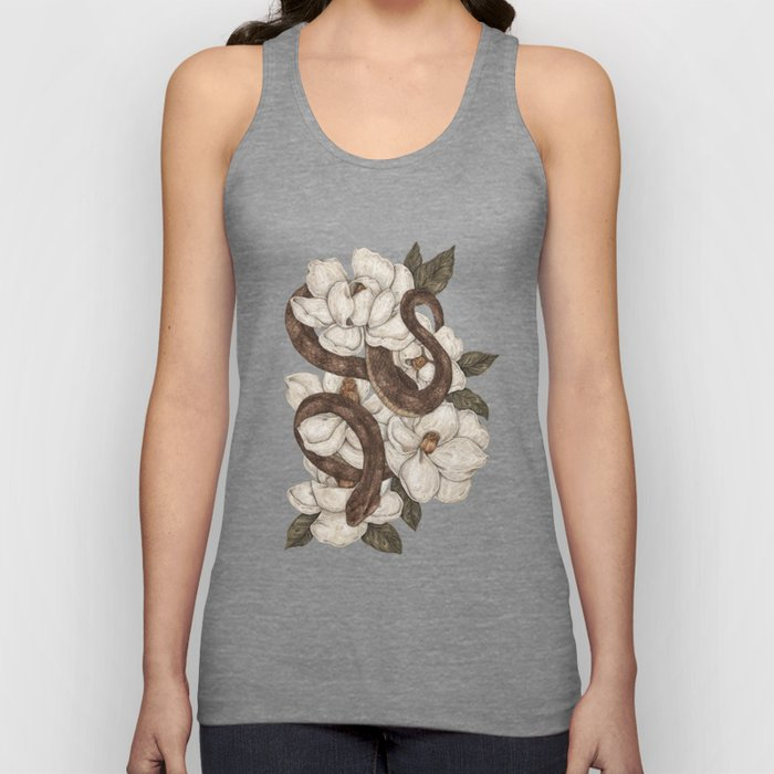 Snake and Magnolias Unisex Tanktop