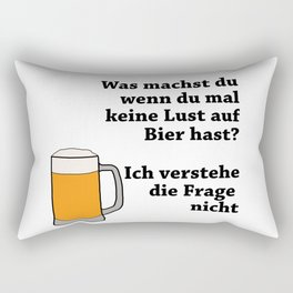 No Fancy Beer Not With Me Rectangular Pillow