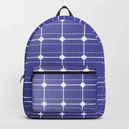 In charge / 3D render of solar panel texture Backpack