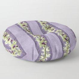 Ballerina Orchid Wreath Floor Pillow