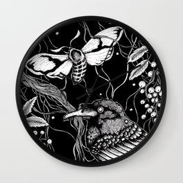 edgar allan poe - raven's nightmare Wall Clock