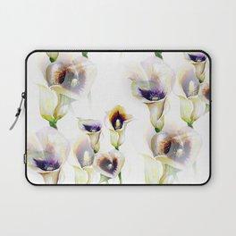 Seamless Watercolor Arum Calla Lilies Laptop Sleeve