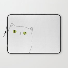 White Cat Face Laptop Sleeve