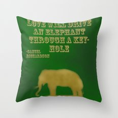 Elephant Love Throw Pillow