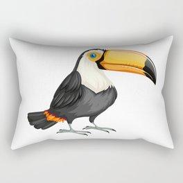 Drawing of a Toucan Bird Rectangular Pillow