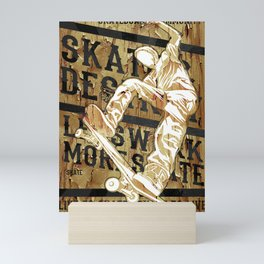 Live to Skate Mini Art Print
