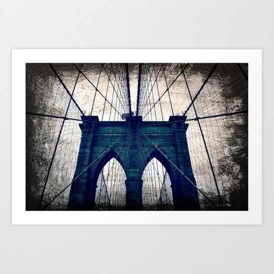Brooklyn Bridge texture Art Print