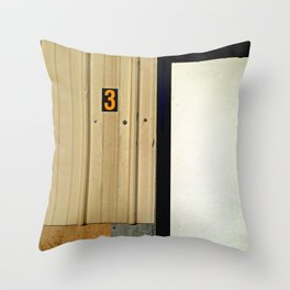Three Comes After Two Throw Pillow