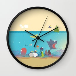 What's going on at the sea? Kids collection Wall Clock