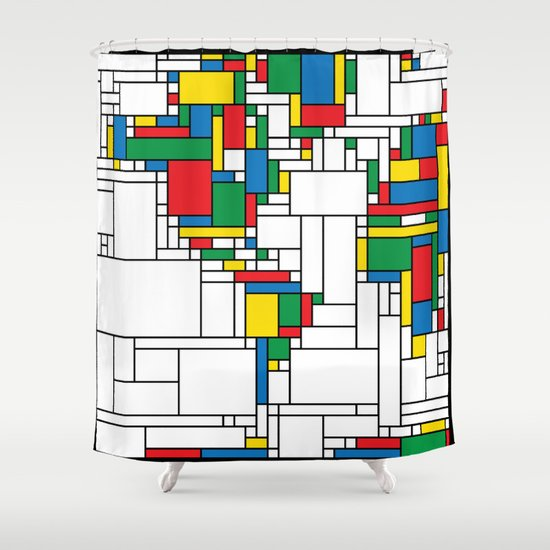 World Map - Modern Shower Curtain