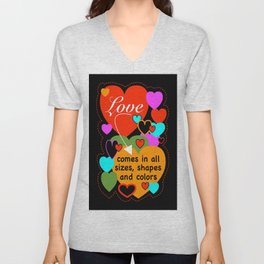 The Look Of Love Unisex V-Neck