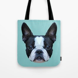 Frenchie / Boston Terrier // Blue Tote Bag